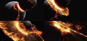 Collisione del pianeta terra con Teia