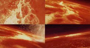 Formazione del pianeta terra-all'inizio appariva una distesa di lava