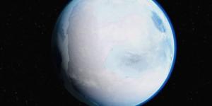 Pianeta stretto nella morza del gelo - periodo palla di neve