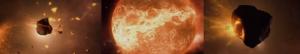 formazione del pianeta terra-ammassamento di roccia e polveri